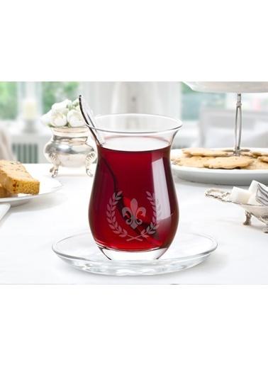 Madame Coco Fleur De Lys 6'Lı Çay Bardağı Renkli